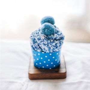 Blueberry Cozy Cup Cake Cotton Socks